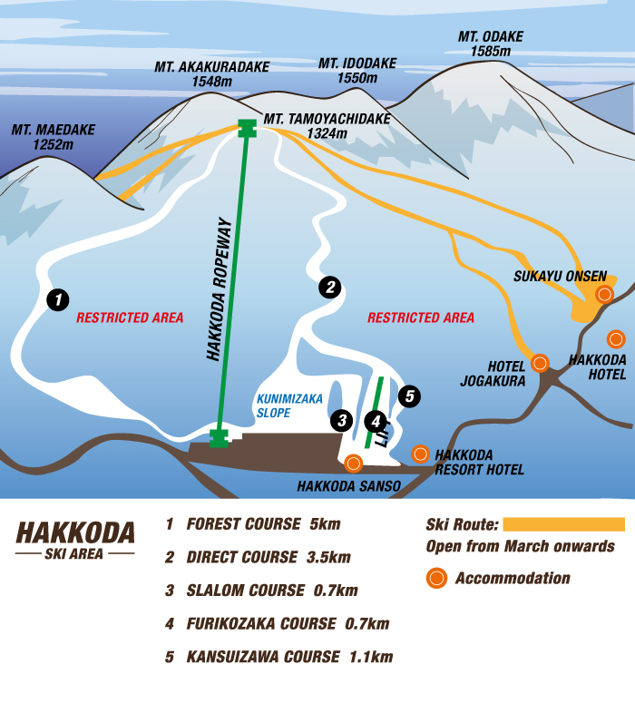 Hakkoda Ski Area map