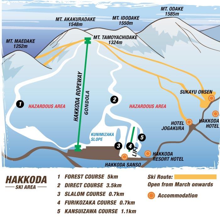 Hakkoda Ski Area map